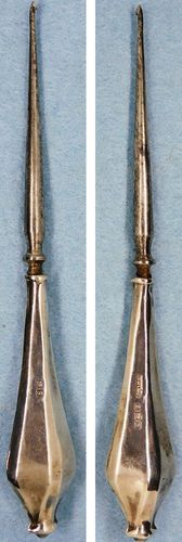 Vintage Crochet Hook for Lace w/Sterling Silver Handle