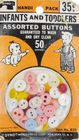 Vintage Dyno Handi Pack Assorted Buttons for Infants and Toddlers