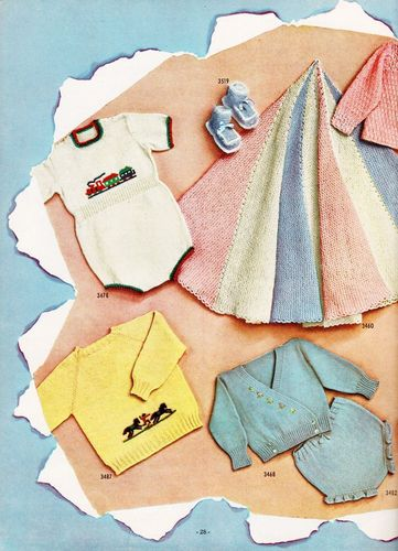 Vintage Fleisher's Baby Book,Hand Knits for Infants to 4 Years,Vo. 87