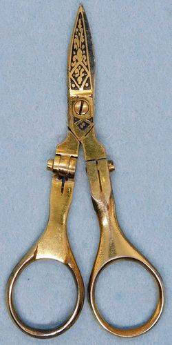 Vintage Folding Embroidery Scissors