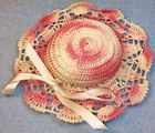 Vintage Hand Crochet Hat Pincushion