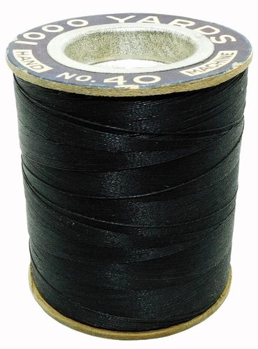 Vintage Jenny Lind 1000 Yard Spool of #40 Black Thread for Machine & Hand Sewing