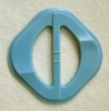 Vintage Light Blue Plastic Belt Buckle