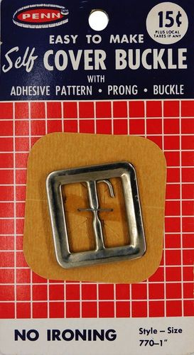 Vintage Penn Square Self Cover Buckle w/Prong
