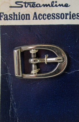 Vintage Silvertone Metal Belt Buckle