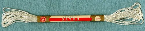 Vintage Star Off White Rayon Embroidery Floss