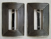 Vintage Striped Metal Shoe Buckle Set