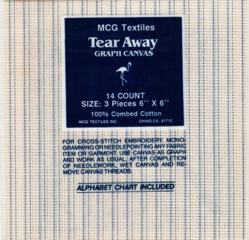 Vintage Tear Away Graphic Canvas For Cross Stitch