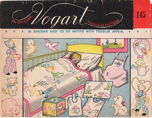 "Vintage Vogart ""30 Amusing Easy To Do Motifs With Toddler Appeal"" #145"