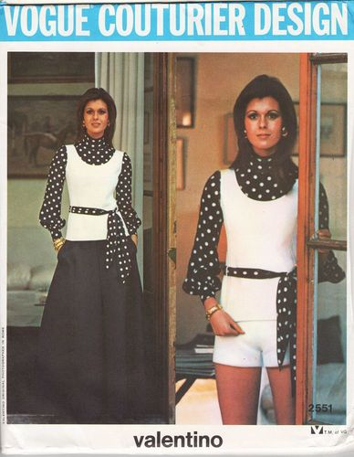 """Vogue Couturier Design 2551 Valentino Blouse, Tunic, Pants, Shorts & Skirt, Bust 32 1/2"""""""