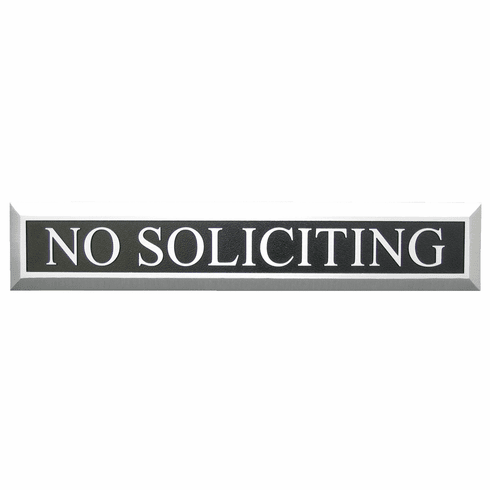 Aluminum No Soliciting Sign