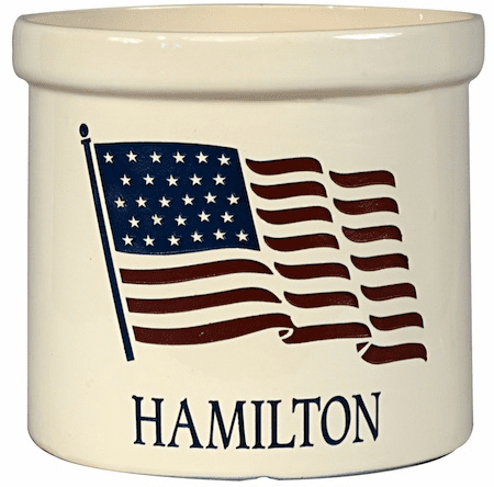 American Heritage Flag 2 Gallon Crock