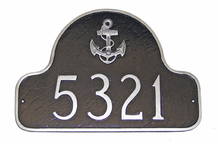 Anchor Arch Address Sign