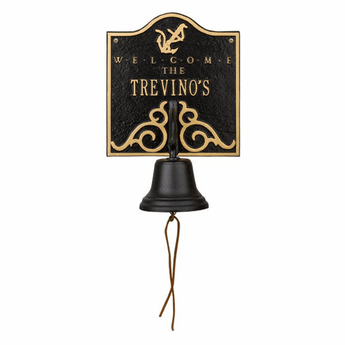 Anchor Bell Welcome Personalized Wall Plaque