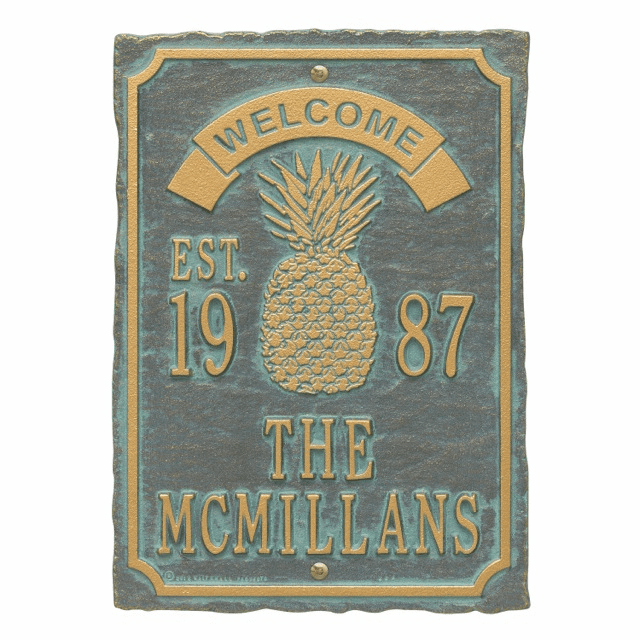 Antebellum Welcome Anniversary Personalized Wall Plaque
