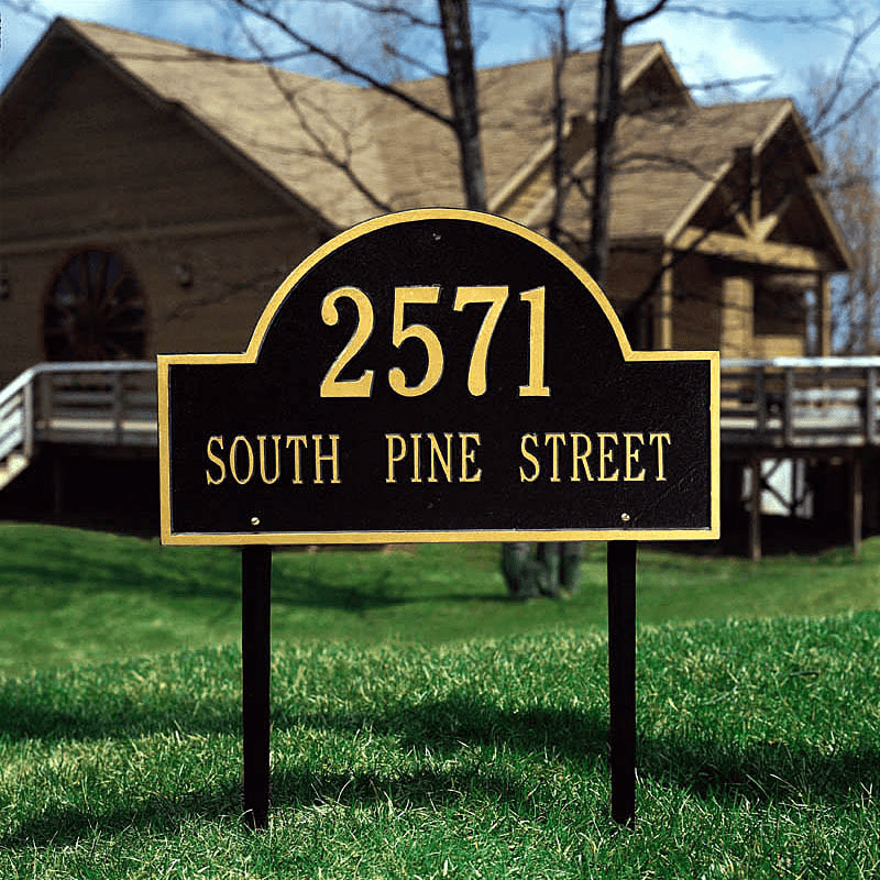 Architectural Marker - Estate Lawn Address Plaque
