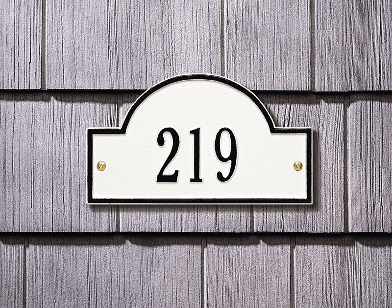 Architectural Marker - Petite Wall Address Plaque