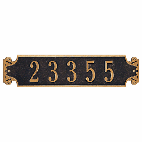 Beauvais Horizontal Standard Wall Address Sign