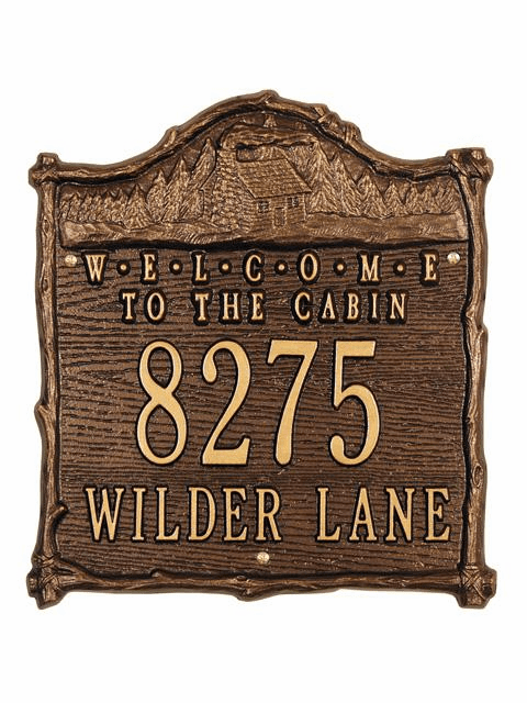 Cabin Welcome Plaque