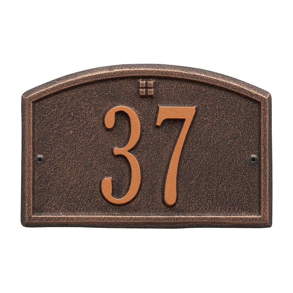 Cape Charles Petite Wall Number Sign