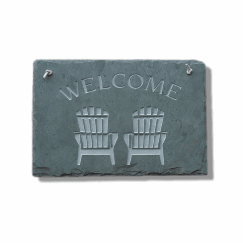 Chairs Slate Welcome Sign
