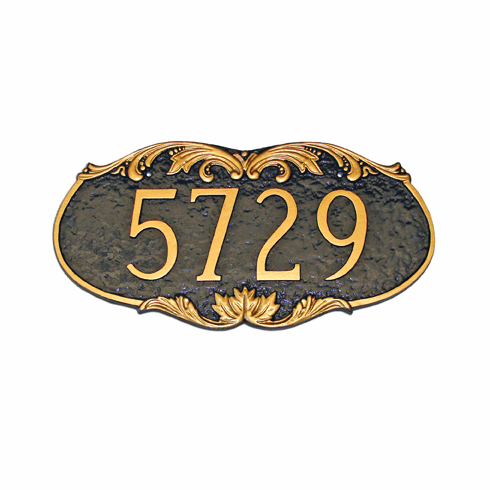 Charleston Cast Aluminum Address Marker