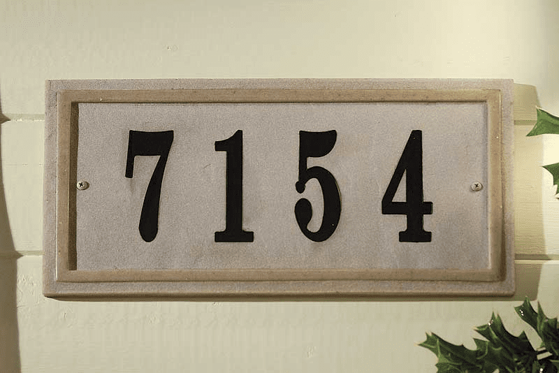 Chesterfield Rectangle Crushed Stone Address Plaque