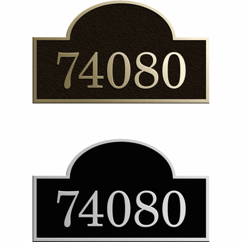 Custom Arch Address Plaque