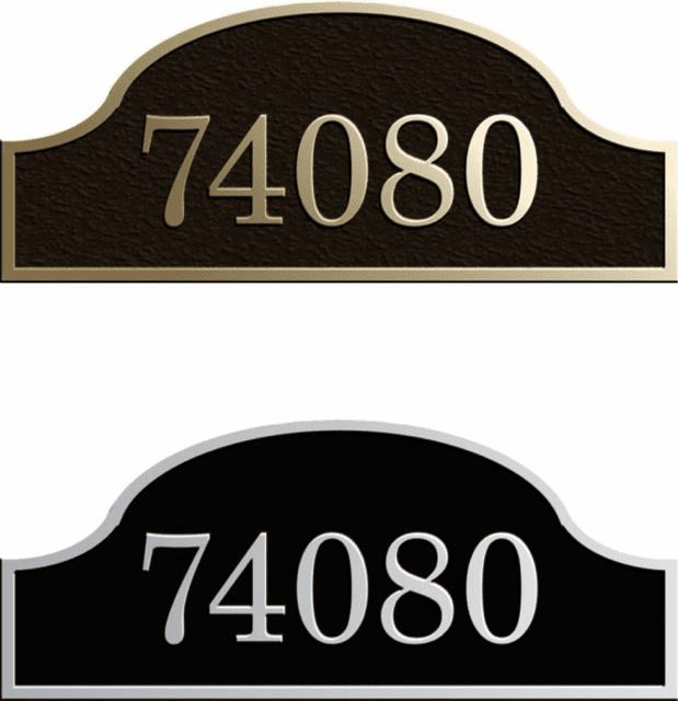 Custom Extended Arch Address Plaque