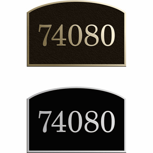 Custom Full Arch Address Plaque