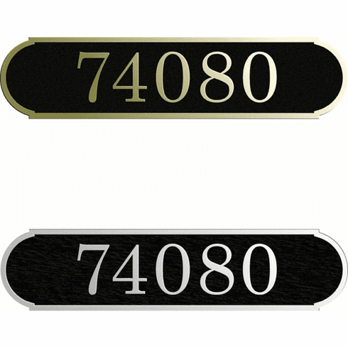 Custom Horizontal Narrow Arch Address Plaque