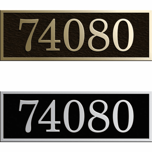 Custom Narrow Horizontal Rectangle Address Plaque