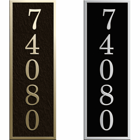 Custom Narrow Vertical Rectangle Address Plaque