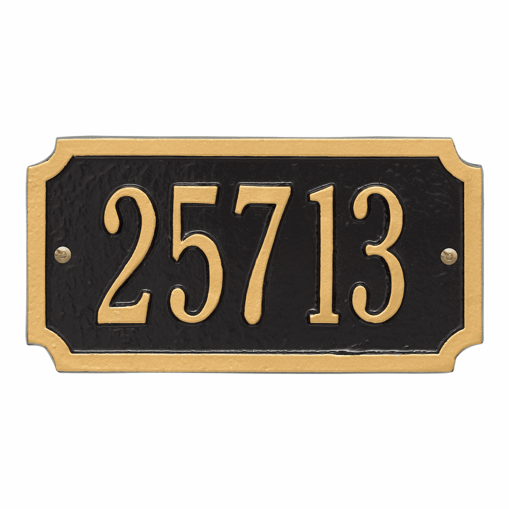 Cut Corner Rectangle Wall Number Plaque