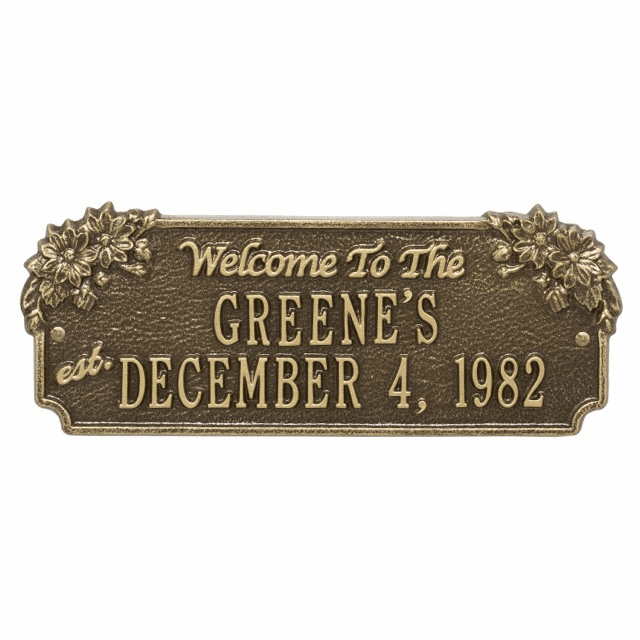 Daisy Welcome Anniversary Personalized Address Plaque