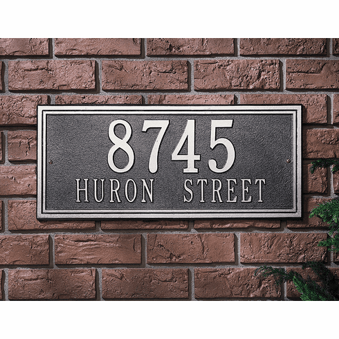 Double Line - Estate Wall Address Plaque