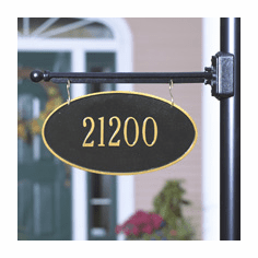 Double Sided Hanging Oval Sign - 1 Line