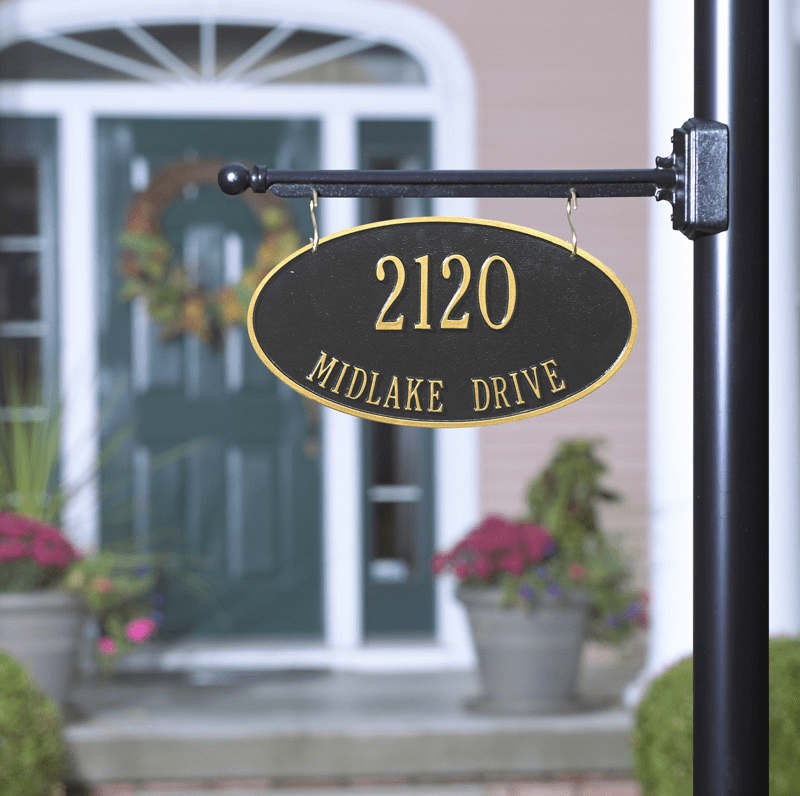 Double Sided Hanging Oval Sign - 2 lines