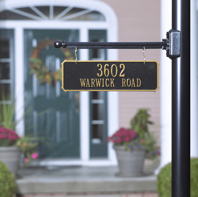 Double Sided Hanging Rectangle Sign - 2 line