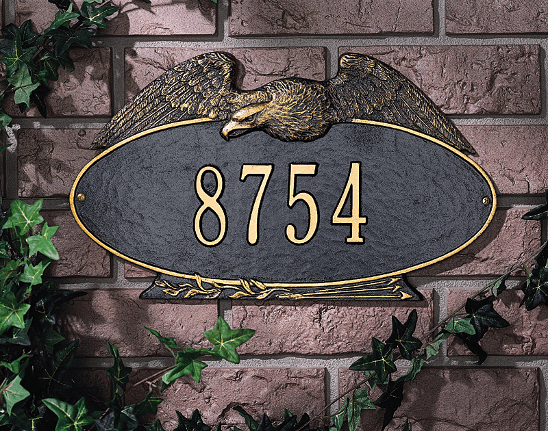 Eagle Oval Standard Wall Address Plaque