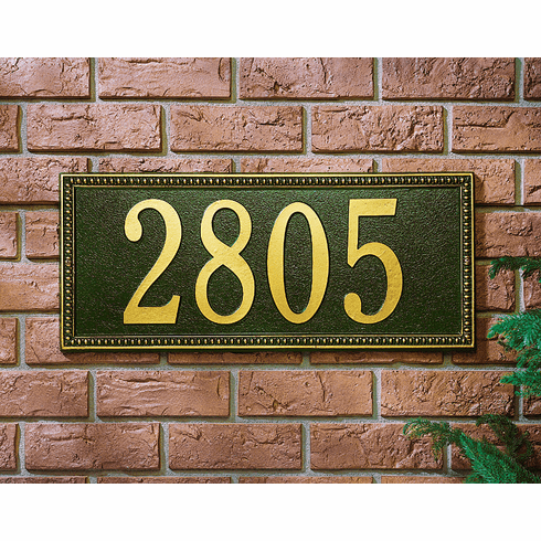 Egg & Dart - Estate Wall Address Plaque