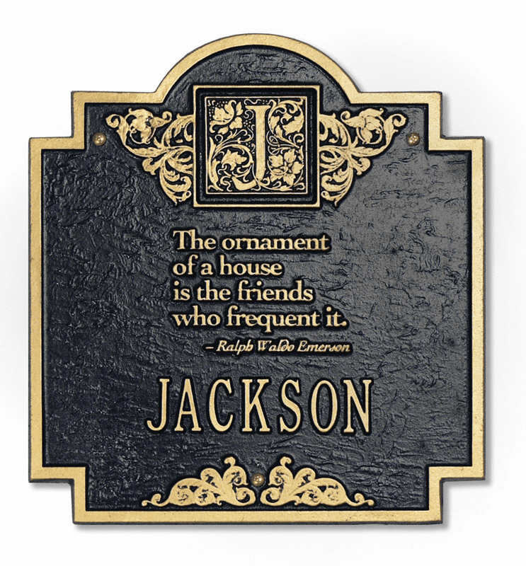 Emerson Address Plaque