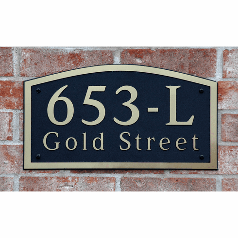 Estate Arch Composite Plastic Address Plaque