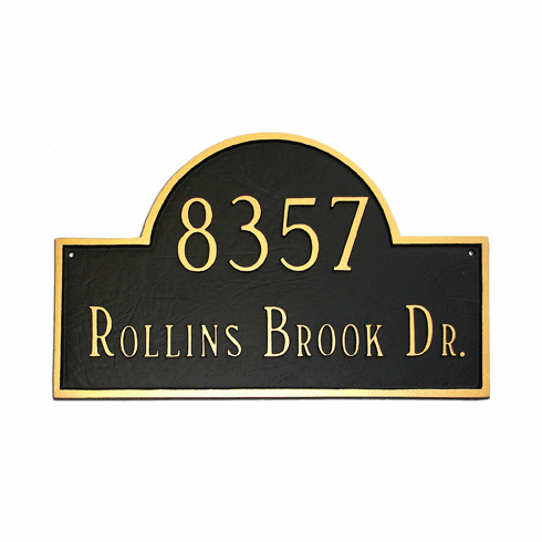 Estate Classic Arch Address Plaque