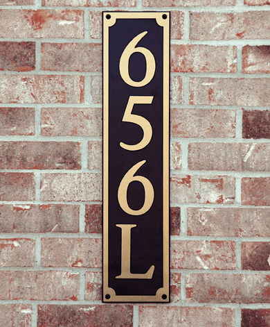 Estate Classic Horizontal Composite Plastic Address Plaque