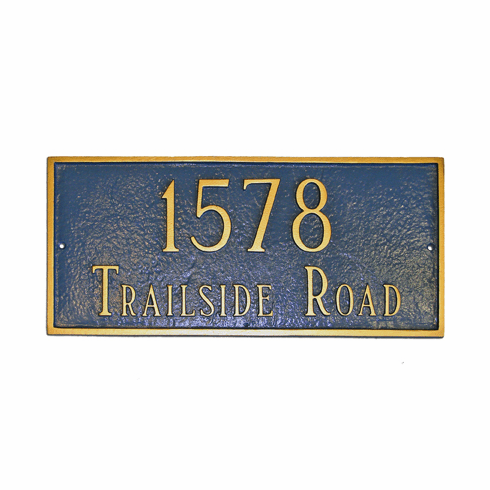 Estate Classic Rectangle Address Marker
