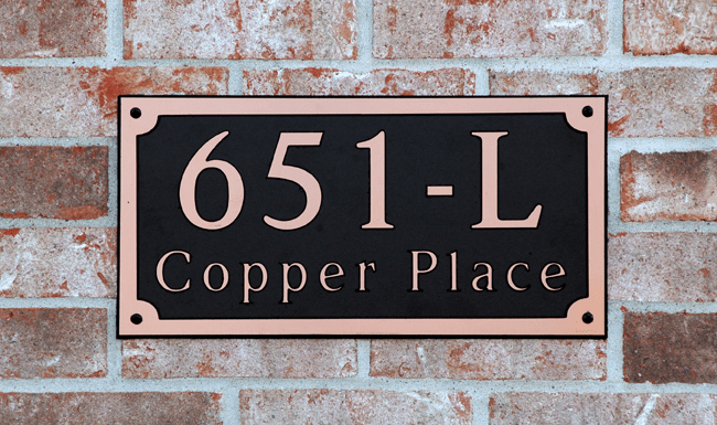 Estate Classic Rectangle Composite Plastic Address Plaque