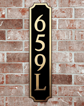 Estate Decorative Horizontal Composite Plastic Address Plaque