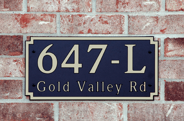 Estate Designer Rectangle Composite Plastic Address Plaque