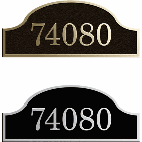 Estate Extended Arch Address Plaque